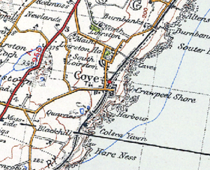 Map of Cove Bay